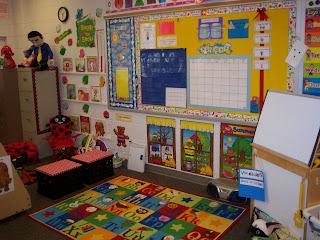 Ladybug In Kindergarten Classroom Set Up