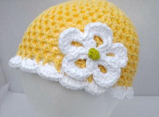 kiểu mũ len cho bé gái - kiểu mũ len tai bèo