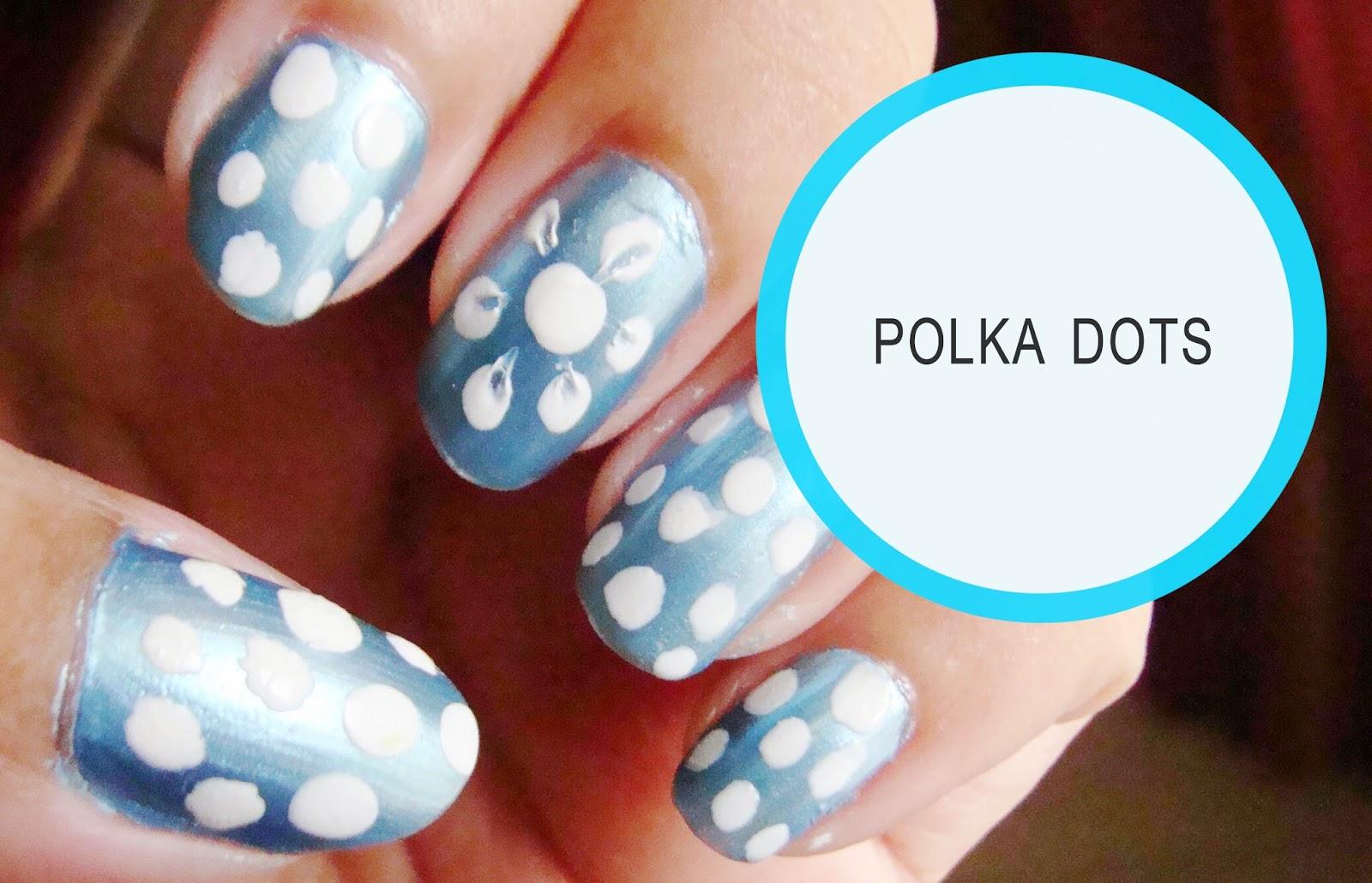 Diy Polka Dots Nail Art Beauty And Lifestyle Mantra Indian