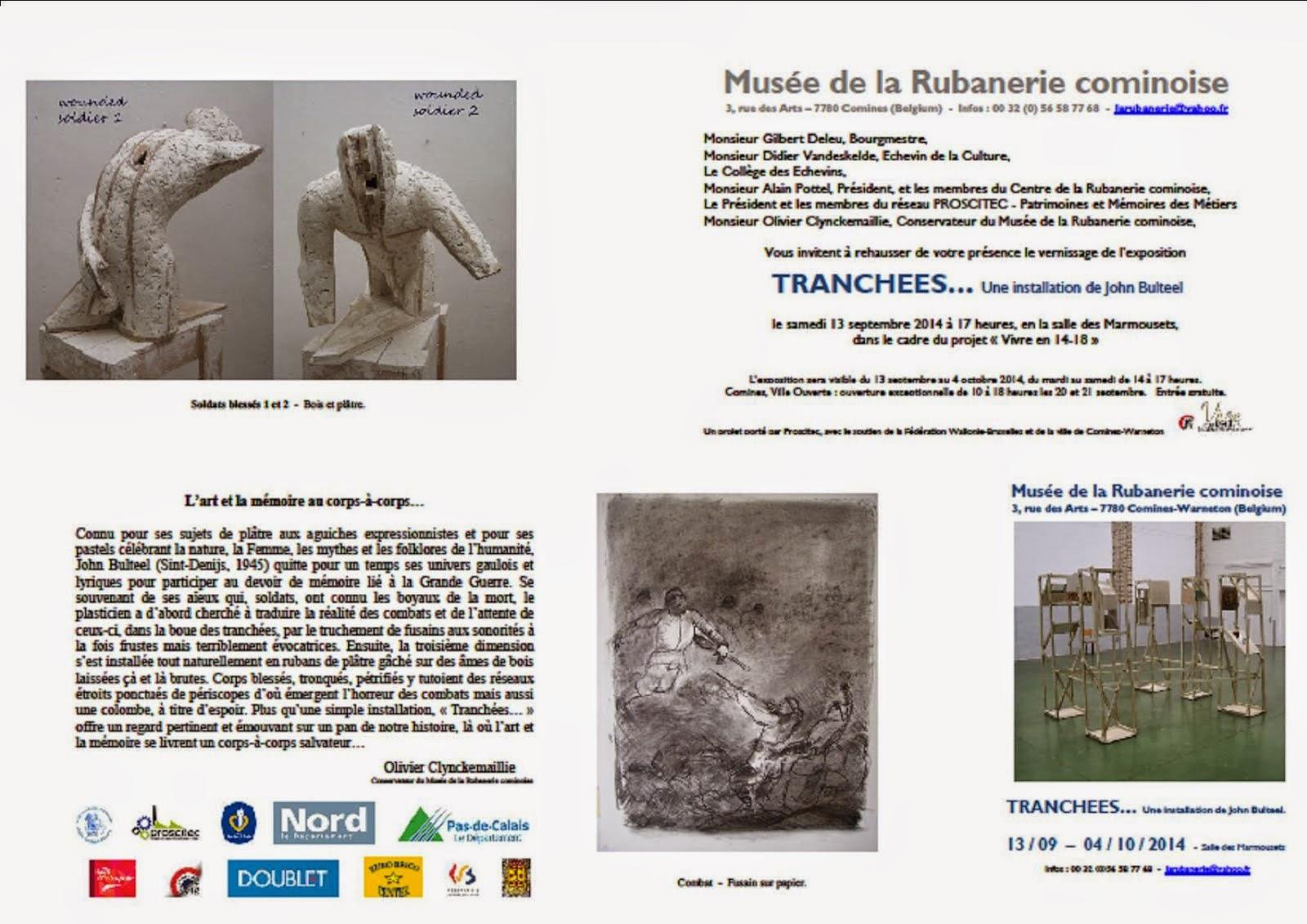 EXPOSITION JOHN BULTEEL JUSQU'AU 4 OCTOBRE A LA RUBANERIE