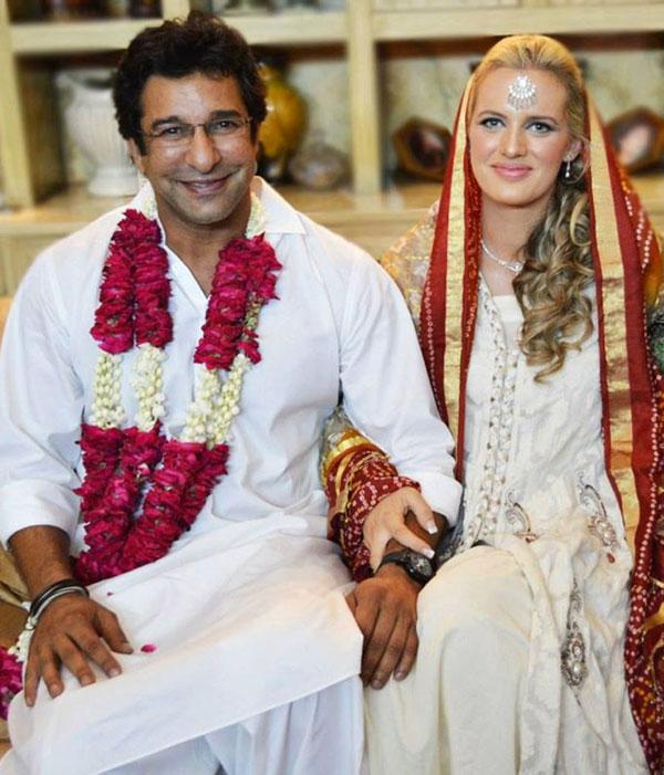 Waseem Akram  Nikah images ,Waseem Akram  New Wife Pics, Waseem Akram  marriage images