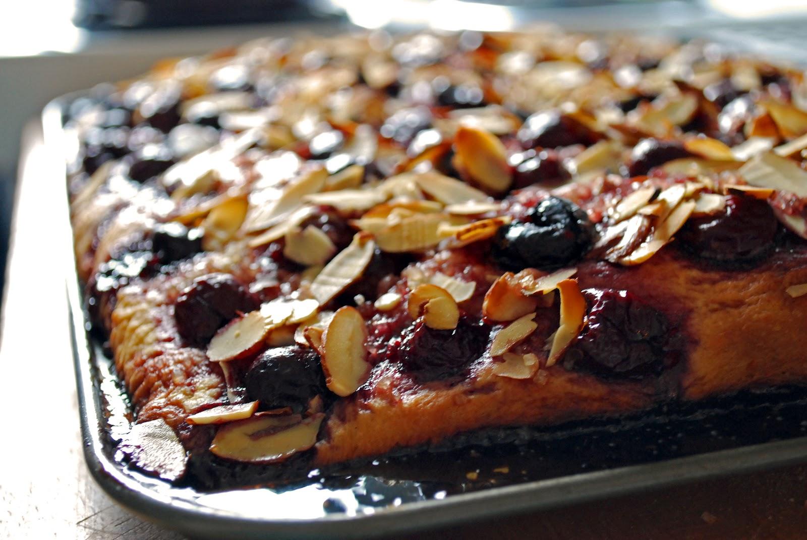 The Kitchen Boudoir: Cherry Almond Focaccia & Nudo Olive Oil Ice Cream