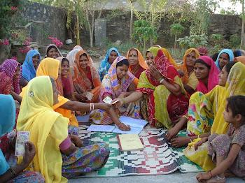 Rural women involved in thrift savings
