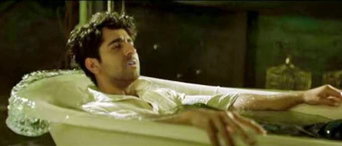 Depressed Ayushmann Khurrana in bath tub for Hawaizaada movie