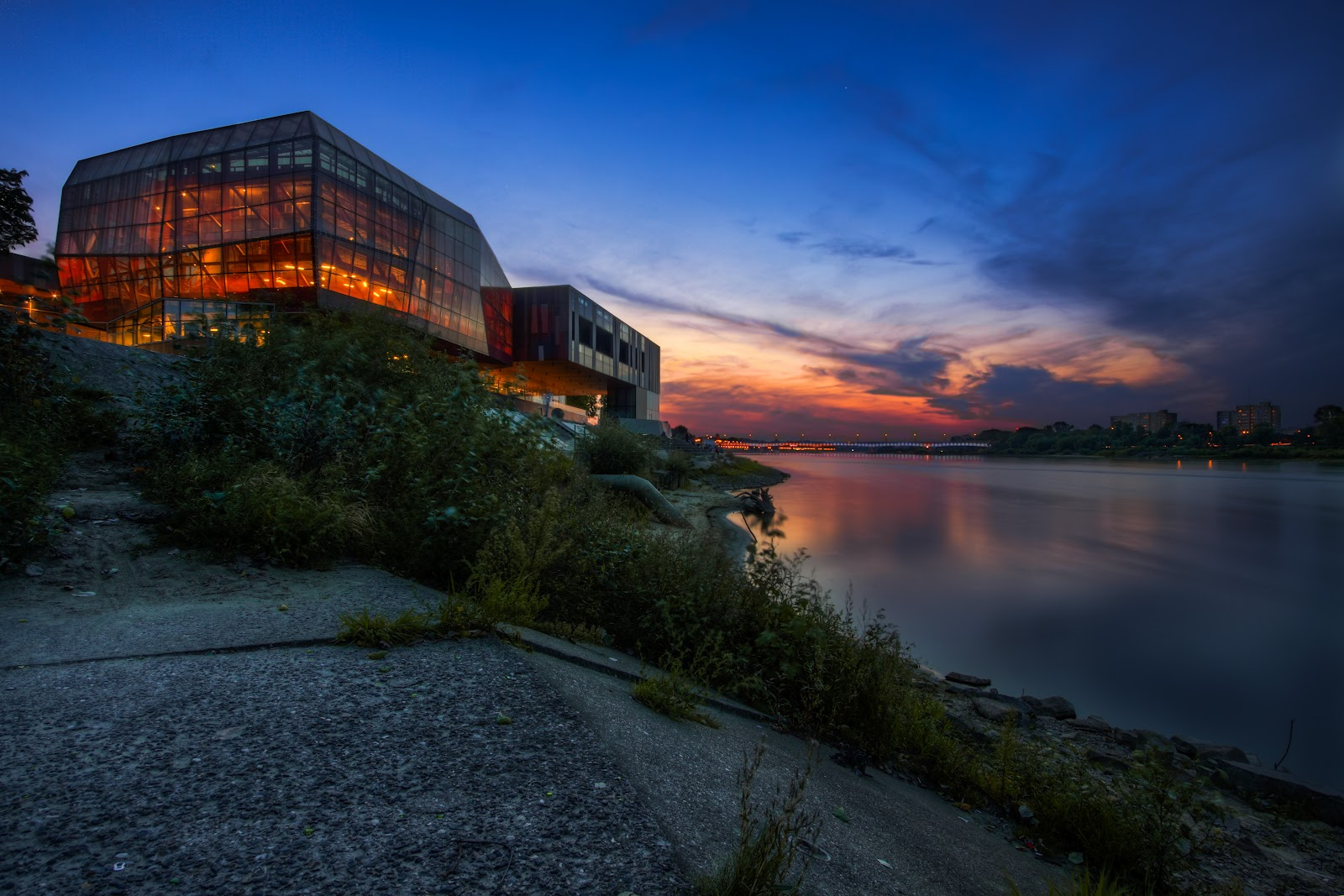 HDR photo of Copernicus Science Center in Warsaw, Poland.