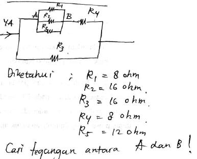 untuk soal no 2, yang akan dicari adalah besarnya tegangan listrik .