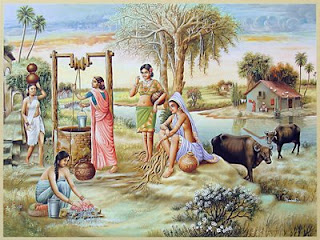 Village Life Paintings Easy Indian villages life p...