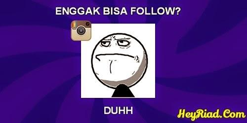 kenapa tidak bisa follow orang lain di instagram
