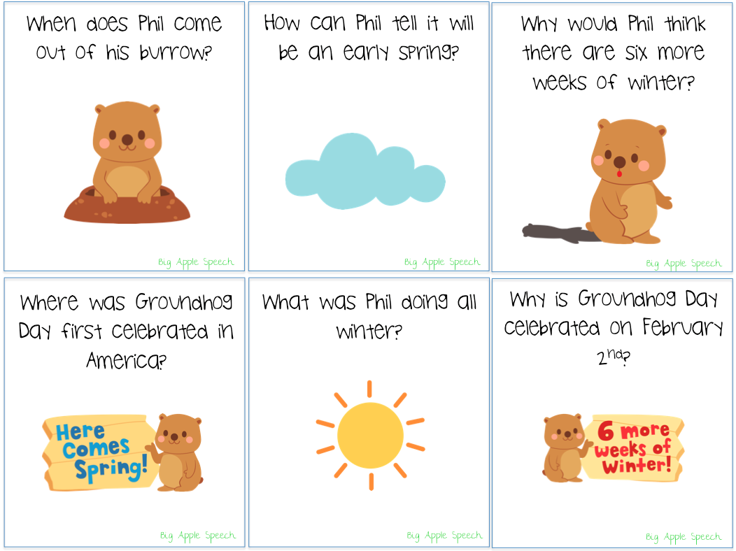 Uncategorized Groundhog Day Stories big apple speech groundhog day activities mega pack 50 off page 6 7 comprehension questions pertaining to the story with answer choices and without