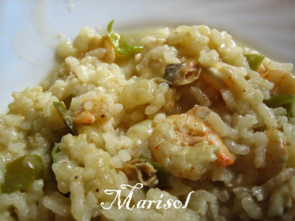 Las delicias de mi alacena arroz con almejas y gambas 10 pp - Arroz con gambas y almejas ...
