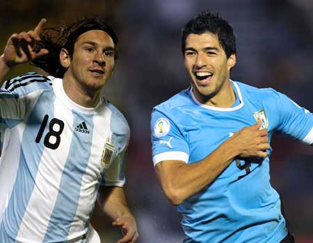 suarez messi Live online football streaming: Watch Argentina v Uruguay (South America World Cup 2014 qualifier)