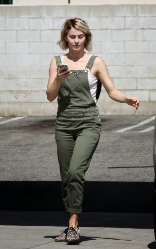 JULIANNE HOUGH at a Gas Station in Beverly Hills