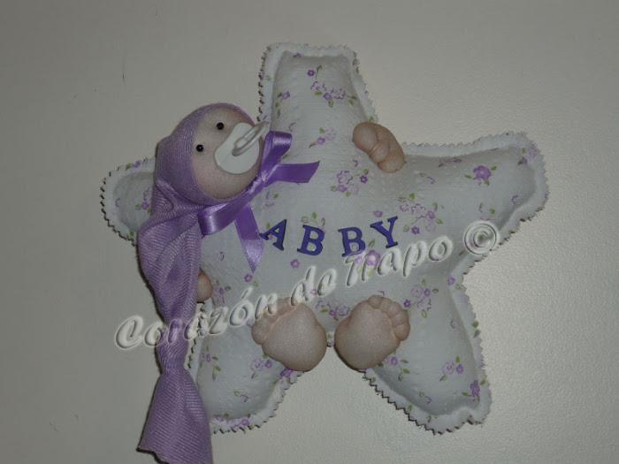 Cartel de bienvenida para el bebé
