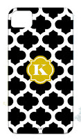 Customized Trellis iPhone Case with Initial