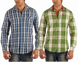 Flat 50% Off on Calculas Cotton Men's Slim Fit Casual Shirts for Rs.399 Only @ Amazon