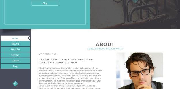 Portfolio & Resume Drupal Theme