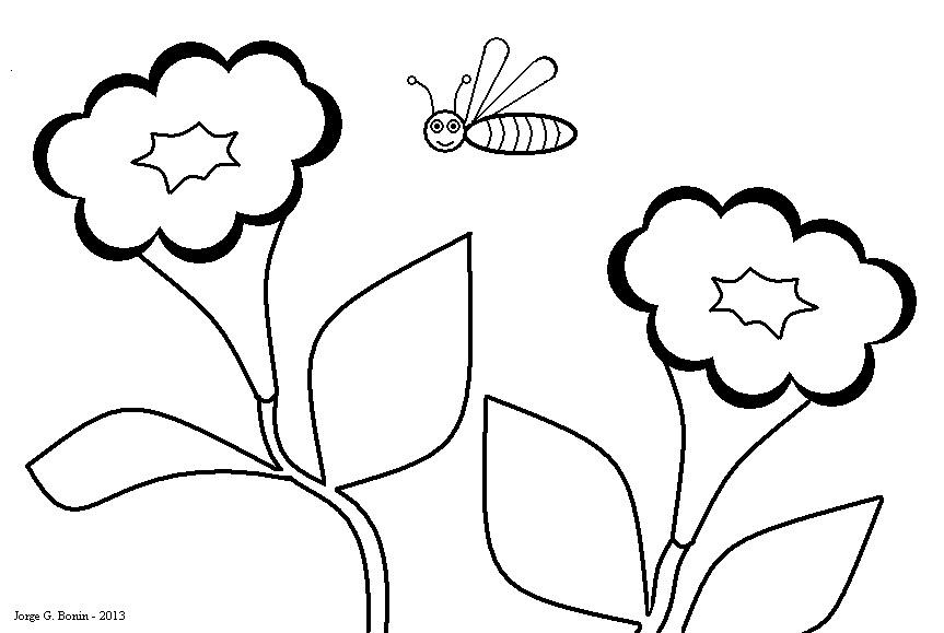 arte no paint desenho para colorir flores