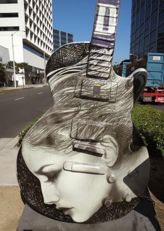 City of Angels GuitarTown sculpture Kat Von D
