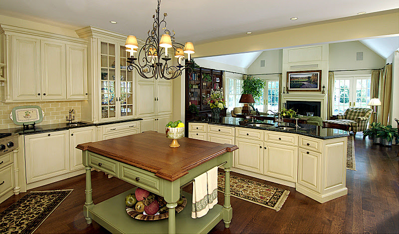 Old Fashioned Dark French Country Kitchen  S