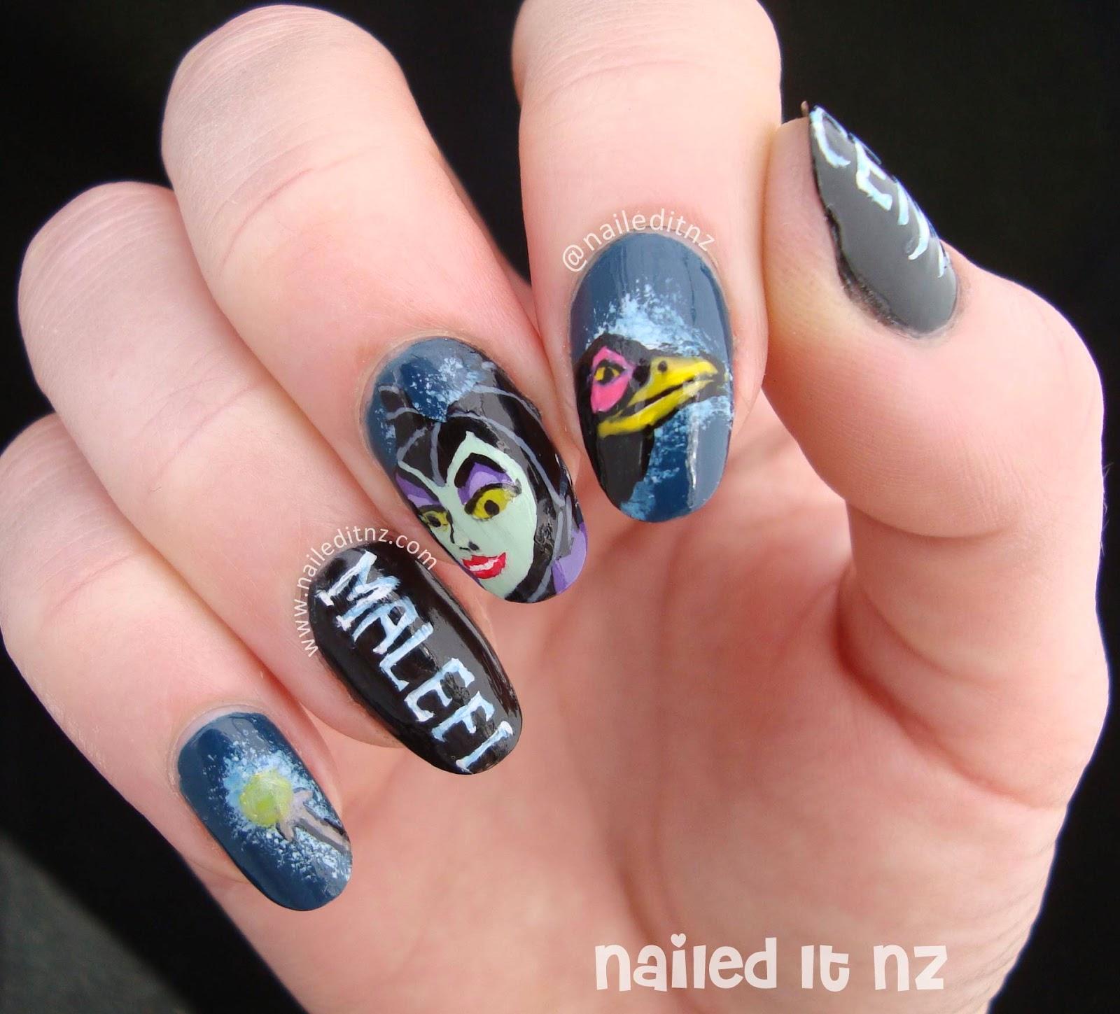 Disney Nail Art #7 | Sleeping Beauty & Maleficent