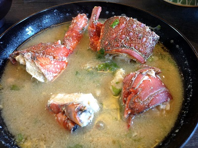 Japanese spiny lobster miso soup