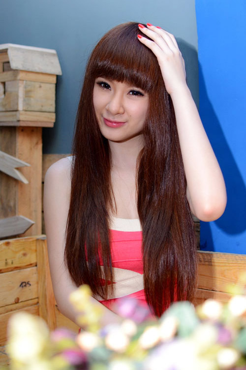 Angela phuong trinh cute girl viet nam with pink shirt photo 5
