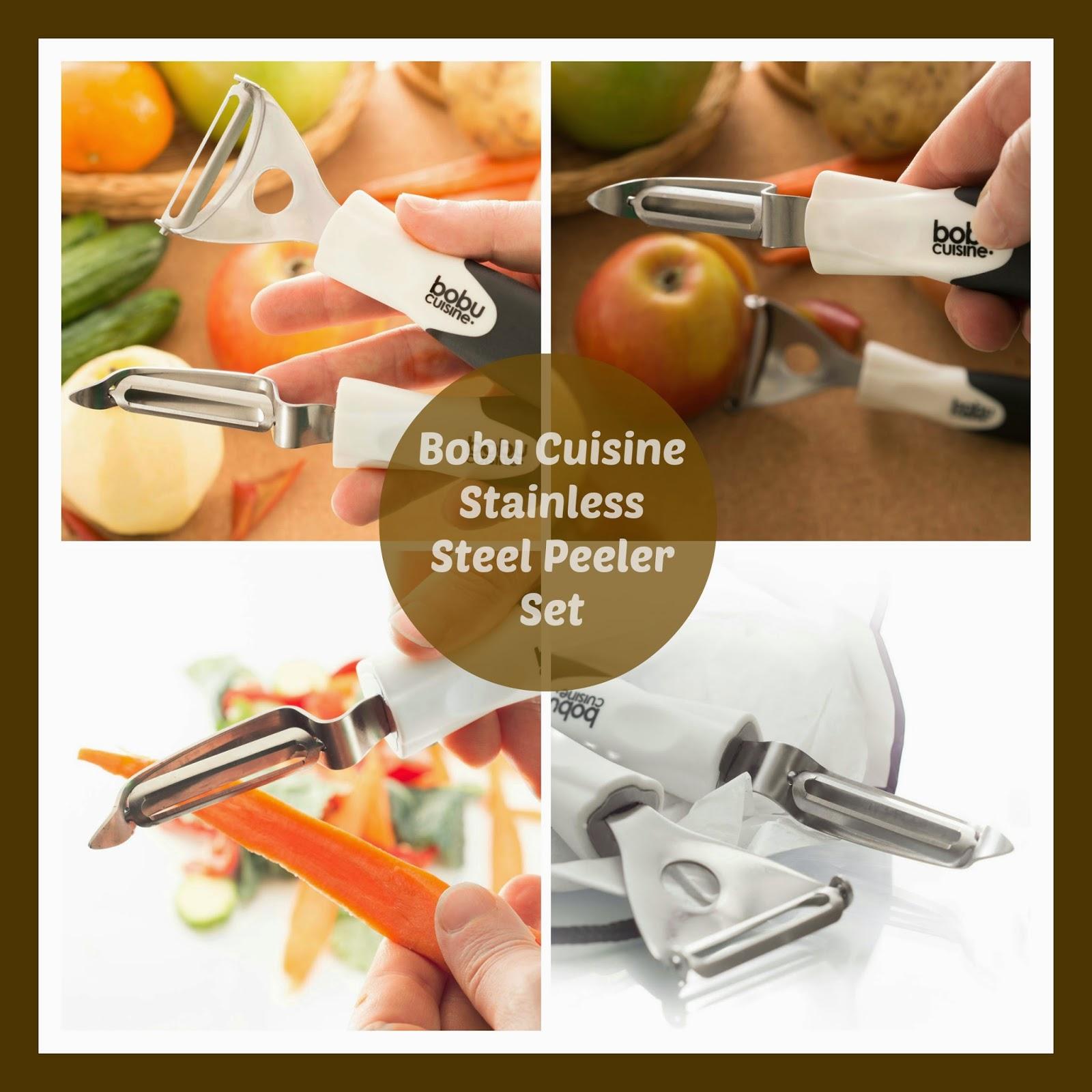 Bo Bu Cuisine Stainless Steel Peeler Set Giveaway