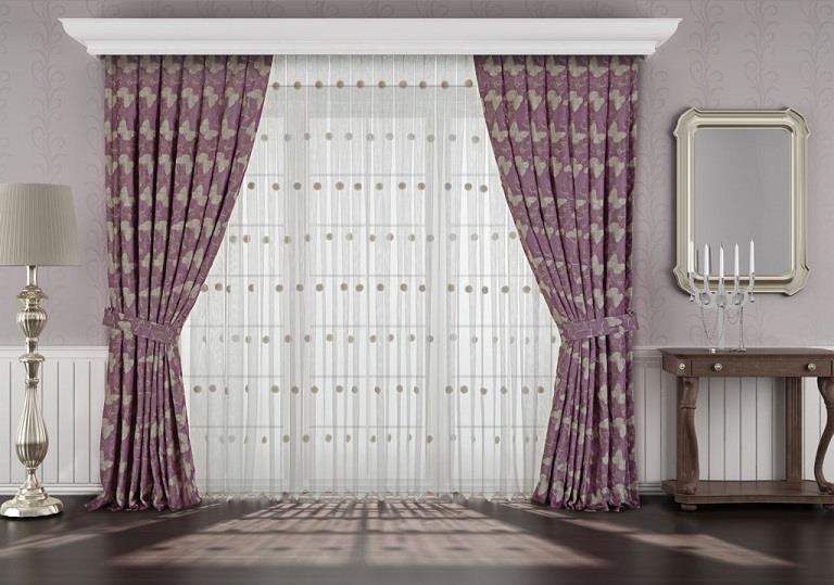 desenli fon perde modelleri elif perde. Black Bedroom Furniture Sets. Home Design Ideas