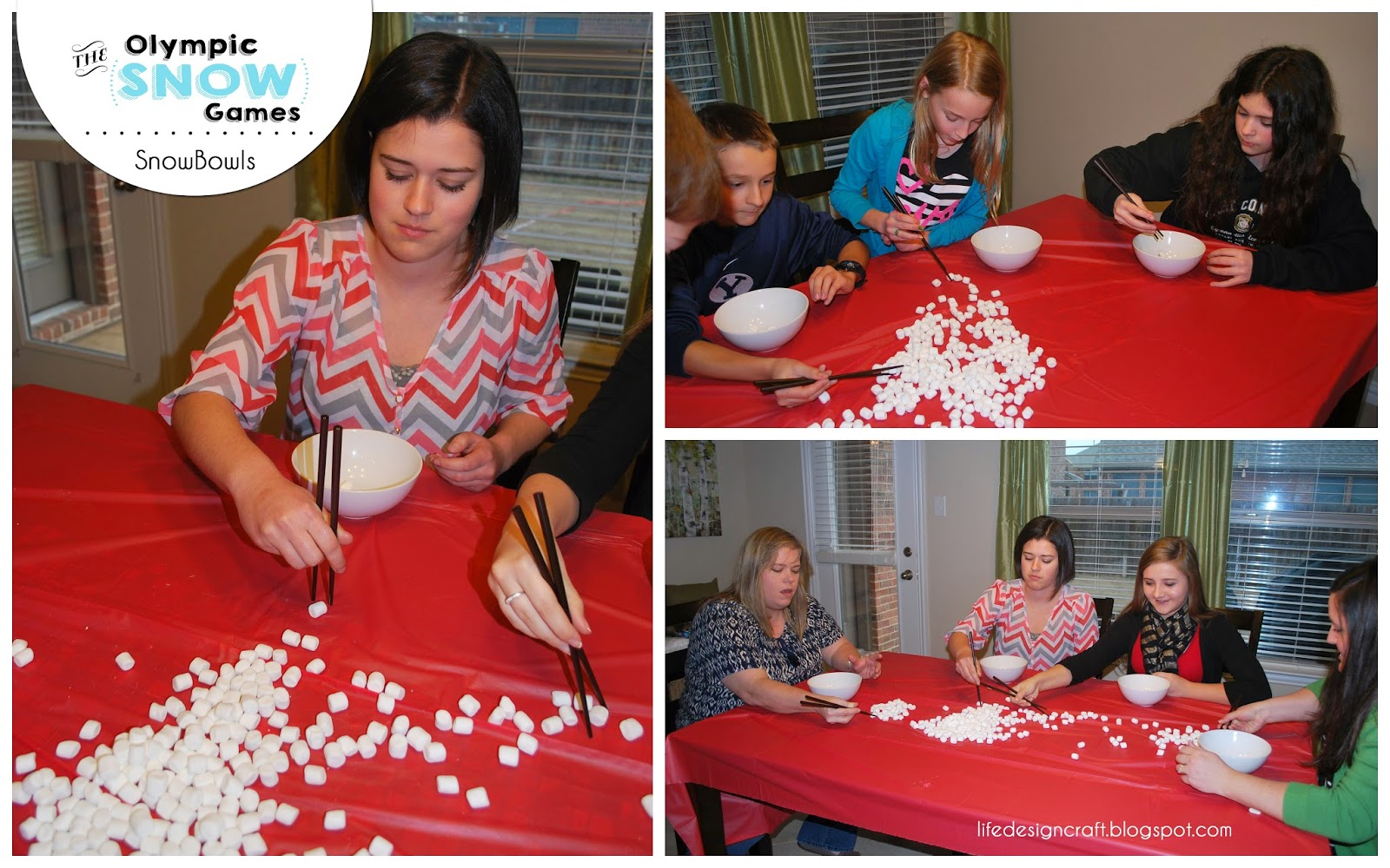 """The Olympic Snow Games - interactive family game for the holidays, winter break, or the next time your family is """"snowed in"""". This lil' family event will have you all laughing, cheering, and having """"snow"""" much fun together!"""