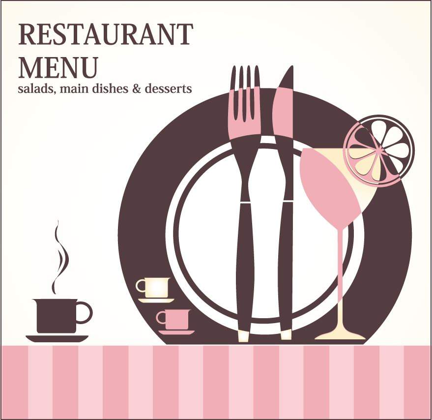 happy delicious stuff clip art restaurant menu design