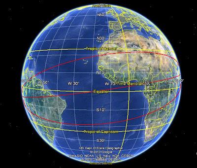 направления работы станций слежения индийского субконтинента за древними космодромами Южной Америки, схема