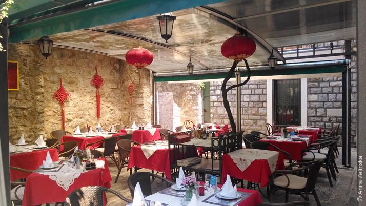 Ресторан китайской кухни в Старом городе, Будва, Черногория
