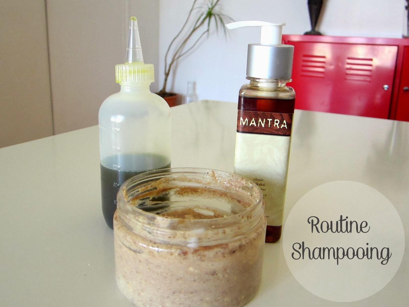 Routine shampooing - cheveux crépus 4C