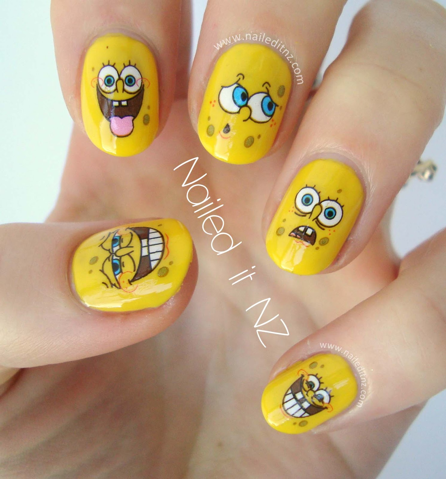 Spongebob squarepants nails spongebob nails i love how they look theyre so instantly recognisable and perfect best of all is that anyone can do them provided you have a yellow prinsesfo Image collections