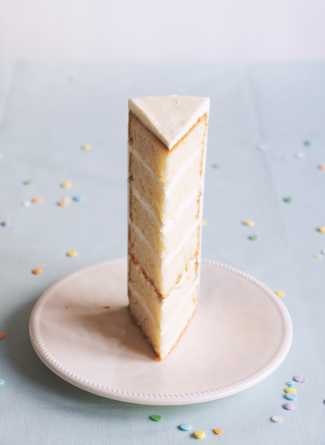 6 Layer Vanilla Bean Birthday Cake Sugary Buttery