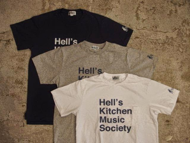 NEPENTHES NY × Engineered Garments × SUNRISE MARKET Crossing Crew T-shirt with Hell's Kitchen Music Society Print