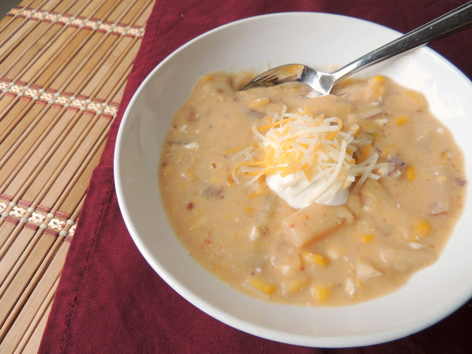 Crock Pot Chipotle Corn & Potato Chowder via thefrugalfoodiemama.com # ...
