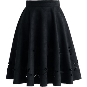 Chicwish Black Cut Out Flower Skirt