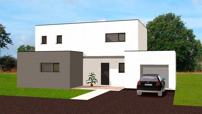 Projet maison f vrier 2014 for Maison moderne carre