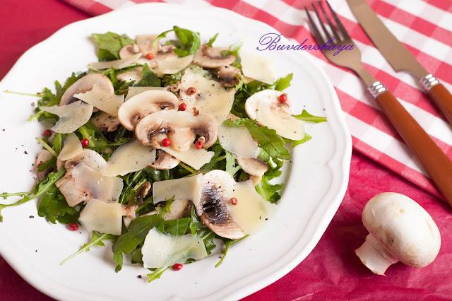 Вкусные салаты из шампиньонов рецепты