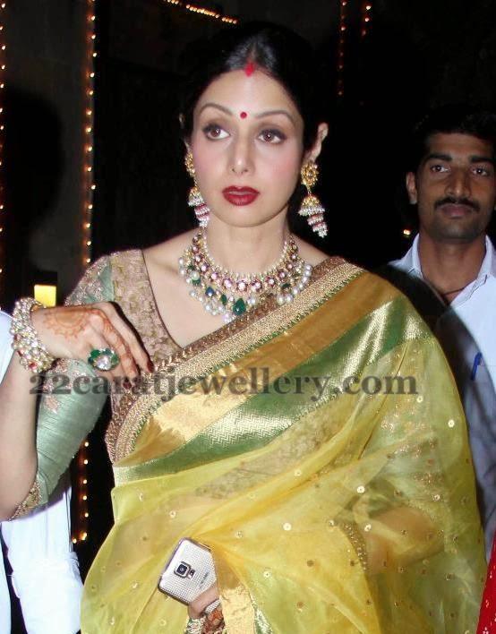 Sridevi Kapoor Latest Kundan Choker Jewellery Designs