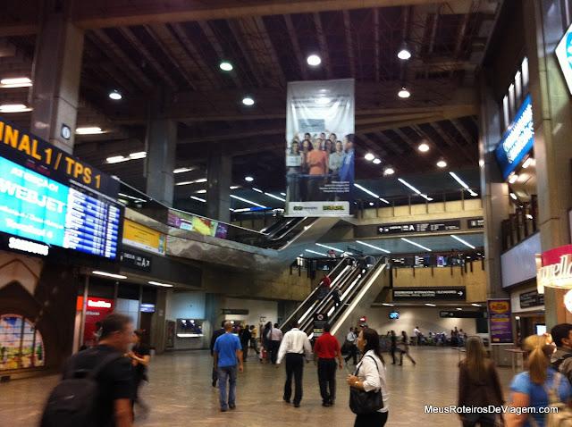 Desembarque do Terminal 1 do Aeroporto de Guarulhos