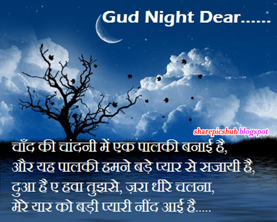 Sweet Good Night Shayari With Pics Lovely Sms
