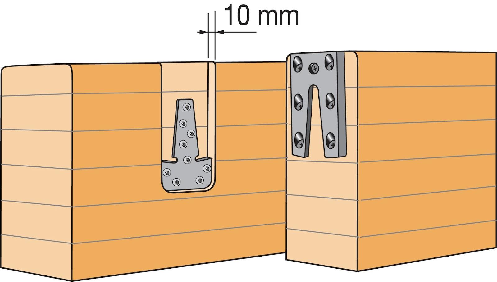 Verborgen houtverbinders