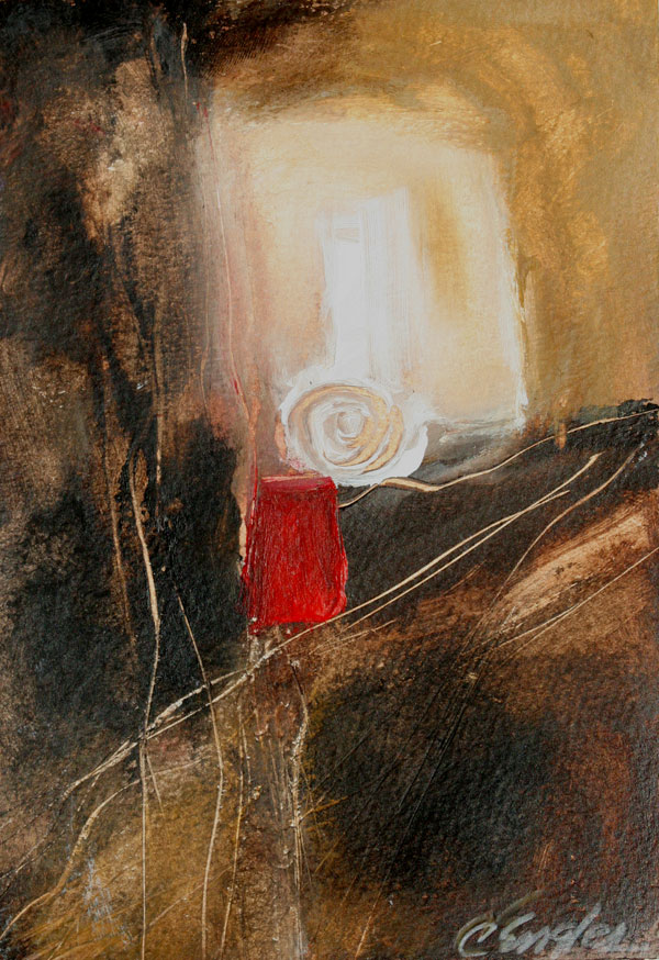 Daily painters abstract gallery brown and gold one for Oil or acrylic