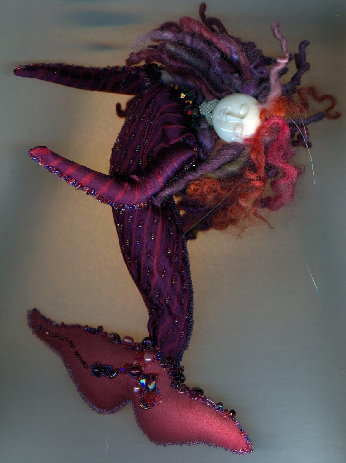 2018 purple mermaid with wool hair
