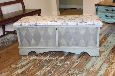 diy Parisian hope chest makeover