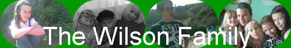 The Wilsons family blog