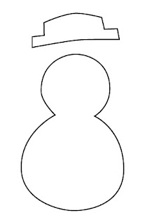 Snowman Picture Frame Ornament Template B4Astudios