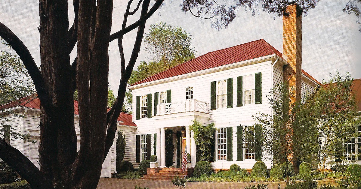 The Devoted Classicist White House With A Red Roof